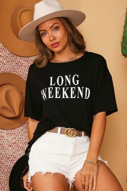 Long Weekend Oversize T