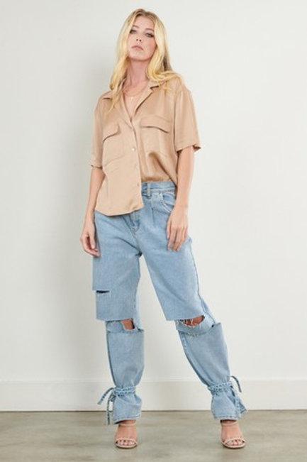 Belinda Paperbag Waist Jeans