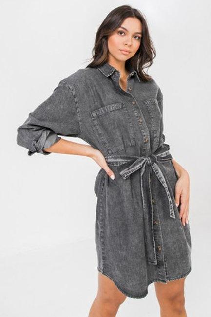 Alia Black Denim Dress