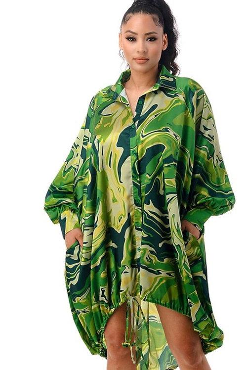 The OverSize Print Dress