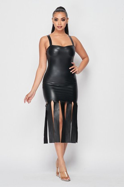 The Fringe Faux Leather Dress
