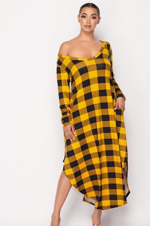 The Bold Plaid Oversize Dress