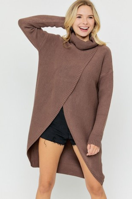The Mock Neck Tunic Sweater