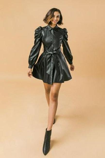 The Faux Leather Mini