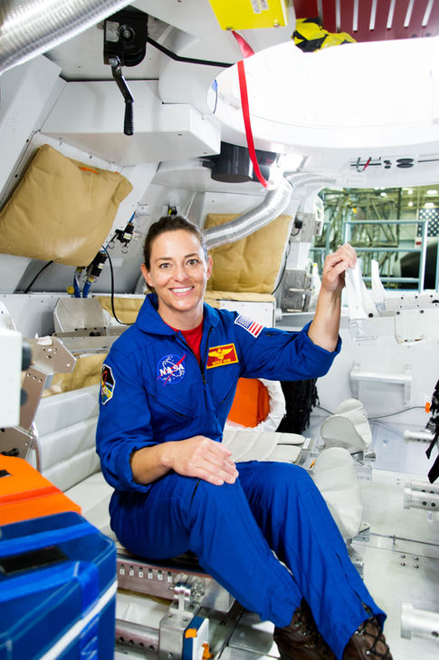 Nicole Mann: Astronaut NASA with the Orion Simulator