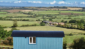 The view from the Look Out Shepherd's Huts across RedHorse Valley