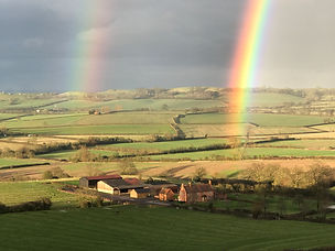 Double rainbow on the Valley of the Red Horse Warwickshire