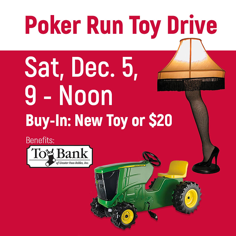 Poker Run for Toy Bank