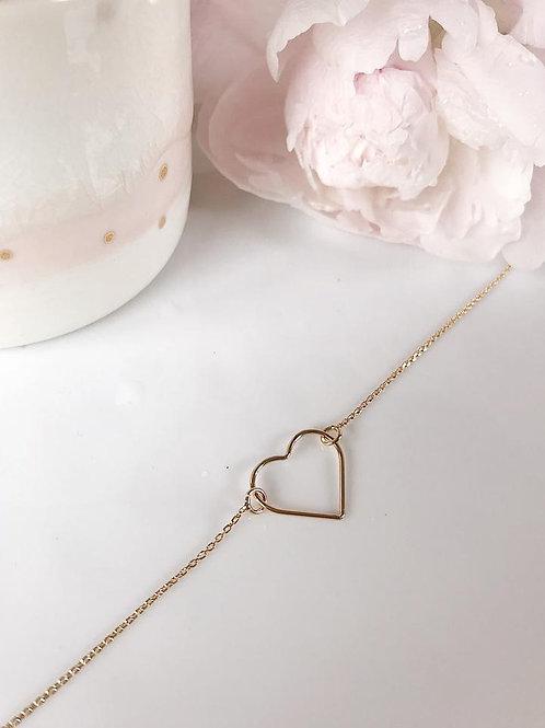 Bracelet chaîne cœur xl