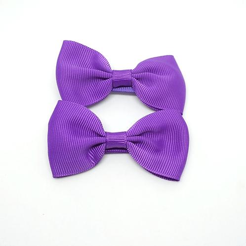 barrettes nœuds violet