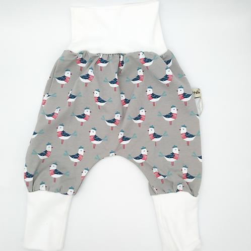 Pantalon évolutif gris petites mouettes