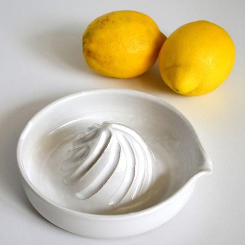 Presse agrume en gré émaillé blanc brillant