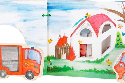 Livre d'images interactif pompier