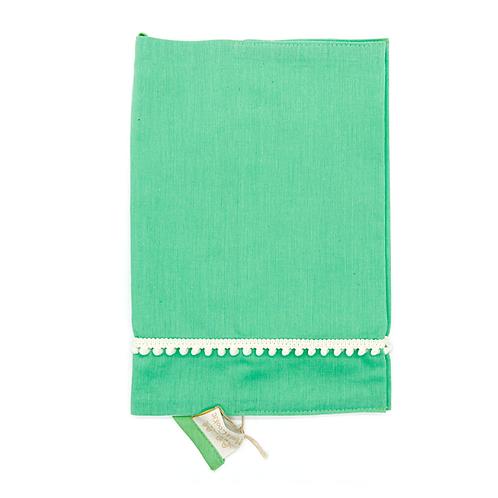 Protège carnet de santé coton fin Citron vert