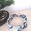 Thumbnail: Headband tissus marine fleurs blanches