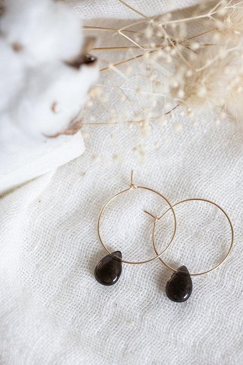 Boucles d'oreilles Astrid en pierres fines