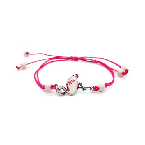 Bracelet réglable enfant flamand rose