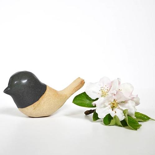 Oiseau décoratif sculpté, en gré