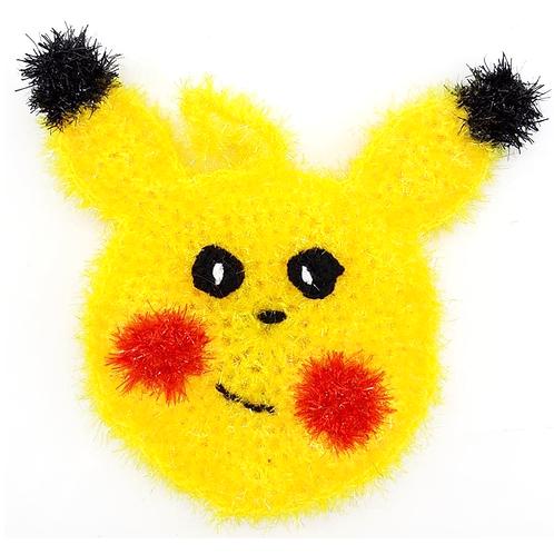 Eponge tawashi lavable Pikachu