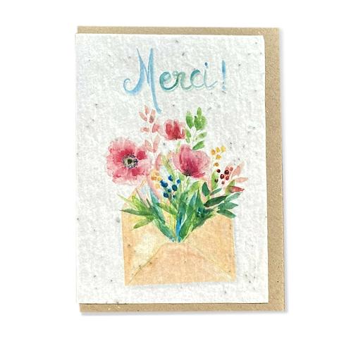 """Carte à planter """"remerciement"""""""