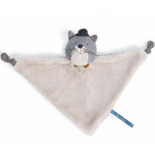 Doudou plat chat gris