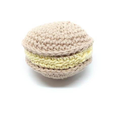 Macaron en crochet saveurs citron