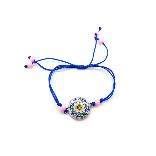 Bracelet réglable enfant rosas bleu