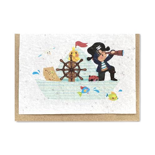"""Carte à planter """"Pirate"""""""""""