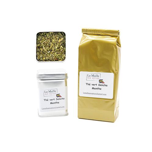 Thé vert sencha menthe (vrac 100g)