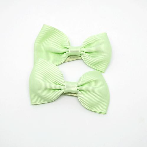 barrettes nœuds vert pastel