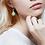 Thumbnail: Boucles d'oreilles gouttes en bois eco-responsable et cuir recyclé turquoise