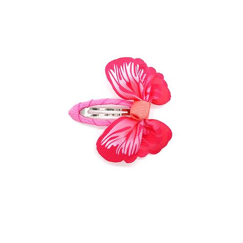Barrette papillon rose