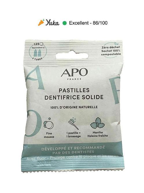 Dentifrice solide - 125 pastilles (menthe)