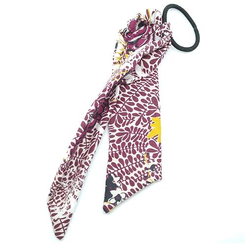 Chouchou foulard violet