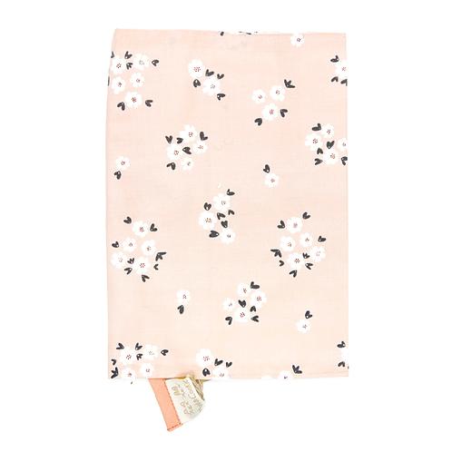 Protège carnet de santé coton fin Petites fleurs