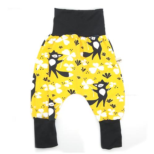 Pantalon évolutif jaune renards