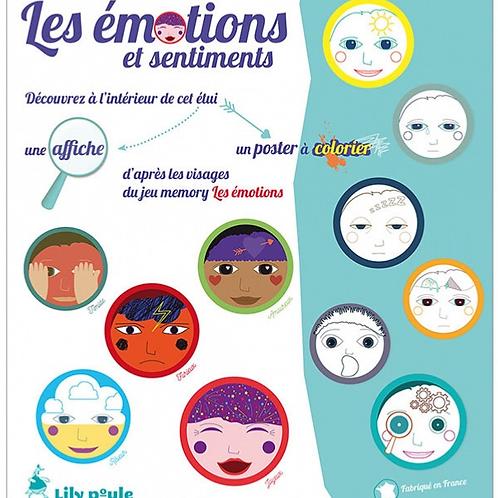 Posters à colorier les émotions
