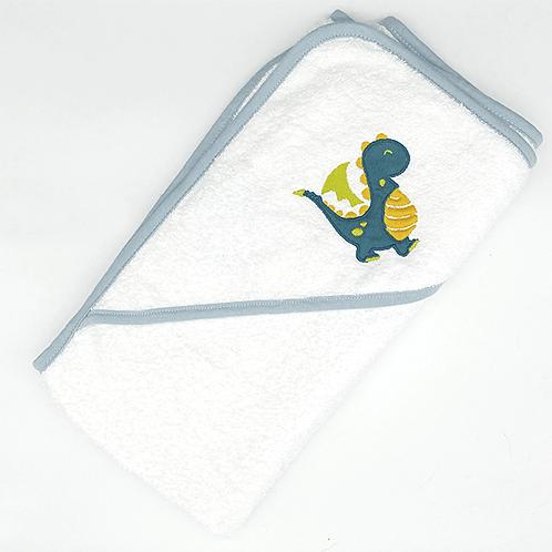 Cape de bain brodée dinosaure