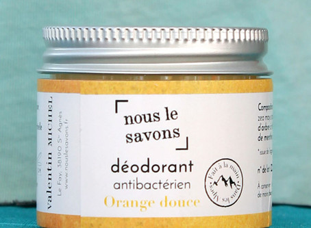 Test produit | Le déodorant à l'orange douce