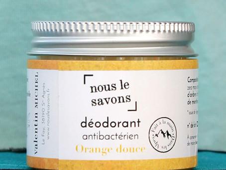 Test produit | Le déodorant à l'orange douce