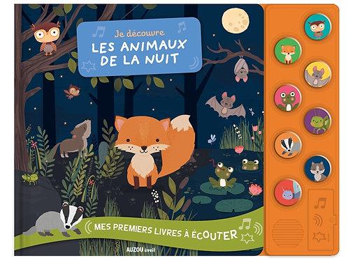 Livre sonore - les animaux de la nuit