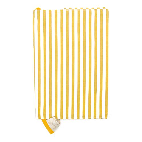 Protège carnet de santé coton fin Rayé blanc et jaune