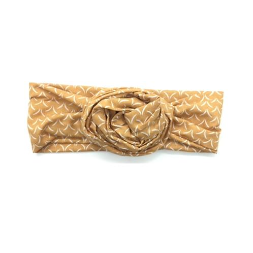 Headband tissus moutarde