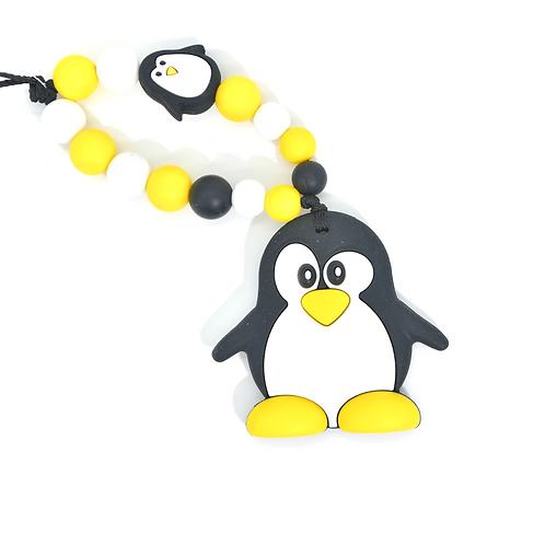 Hochet de dentition pingouin