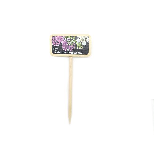 Mini étiquette potagère - Framboises