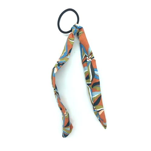 Chouchou foulard multicolor abstrait