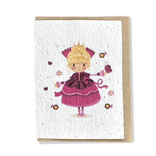 """Carte à planter """"Princesse"""""""""""