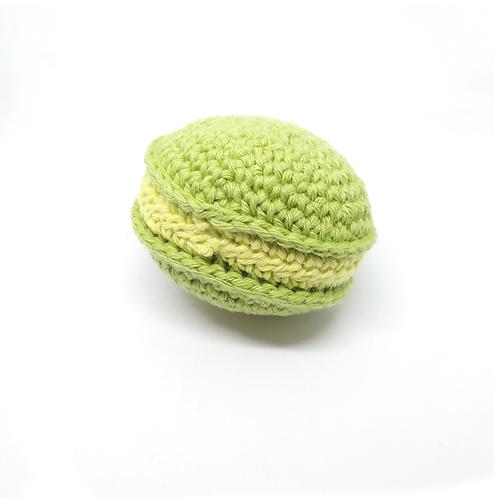 Macaron en crochet saveurs pistache