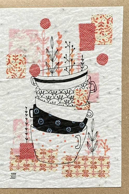 """Carte à planter """"tasses à café"""""""