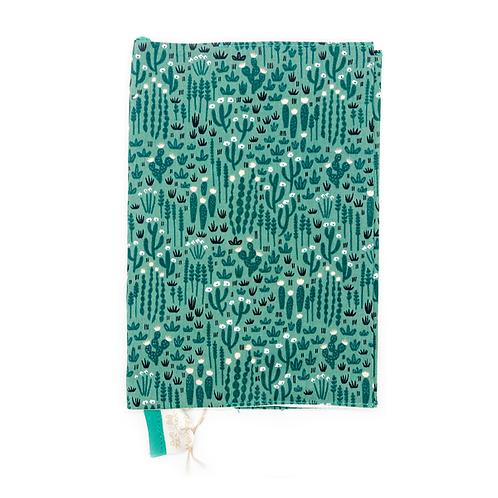 Protège carnet de santé coton fin Cactus